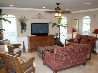 Emerald Shores house photo - 1st Floor Living Room with 51 inch Flat Screen TV