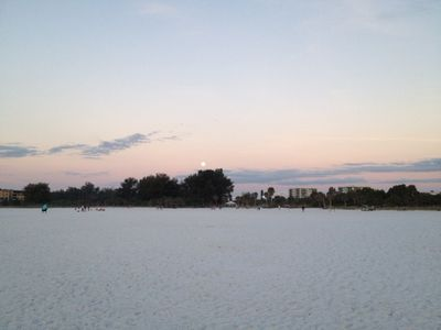 The Rising Moon over Siesta Key Beach