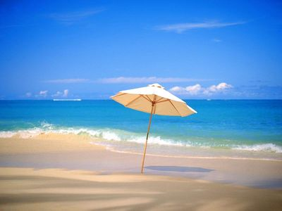 Stay right at the beach. Miles of white sand. Walk, bike, jetski, parasail, fish