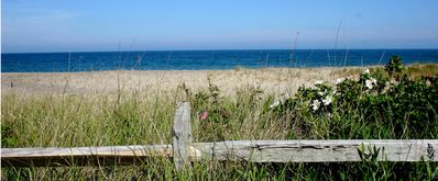 Siasconset house rental - The public beach in Sconset, a ten minute walk from Seven Mile Lane.