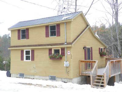 Cozy Vacation Home on the Carrabassett River ~ New River View Bedroom & Sauna!