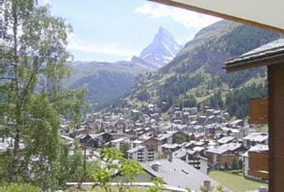 Zermatt chalet rental - The great view from Millennium to the Matterhorn