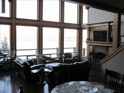 Garfield Bay lodge rental - Great Room from Dining Area