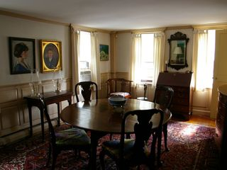 Newport house photo - Formal dining room with period antiques.
