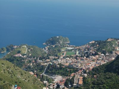 General view of Taormina area