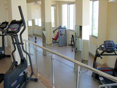 Fully equipped resort gynasium, only a short walk