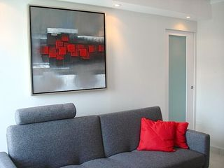 Isla Verde apartment photo - Sofa Bed and Modern door that provide you access to the guest room