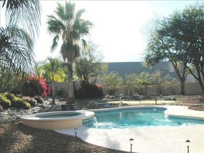 Enjoy the sunshine and privacy in the pool or spa!