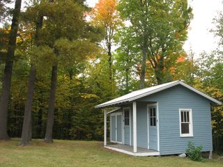Lake Placid house photo - kids playhouse in the early fall