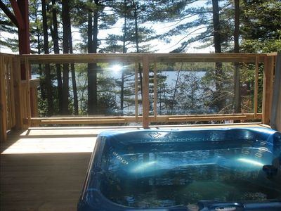 View from lower deck Hot Tub