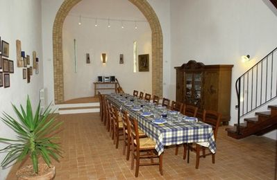 dining room in the former church