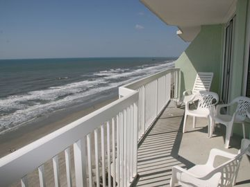 The patio looking towards Myrtle Beach