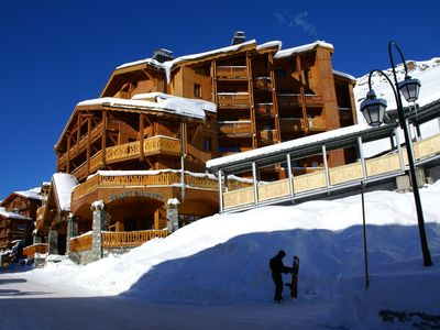 An attractive apartment complex in the centre of Val Thorens.