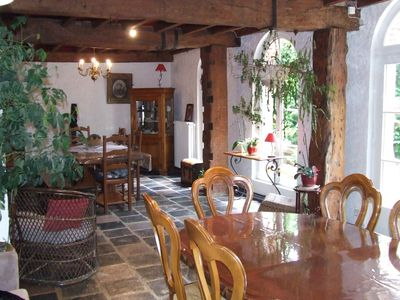 gîte in a water mill capacity of 12 persons, pets allowed.