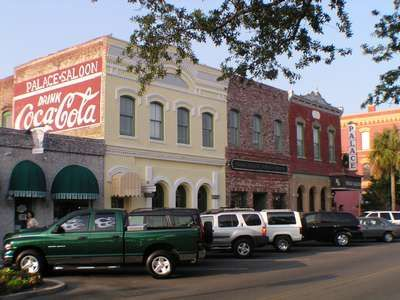 Downtown Fernandina offers shopping for art, antiques,etc. Palace Saloon a must!