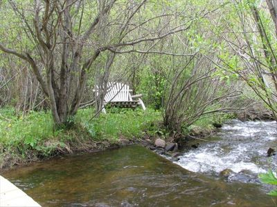 Perfect to relax and unwind are many seating areas scattered along the creek.