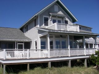 Bald Head Island house photo - Enjoy the awesome ocean views from the large porch