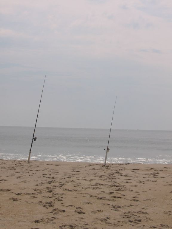 Fishing off of Assateague Island