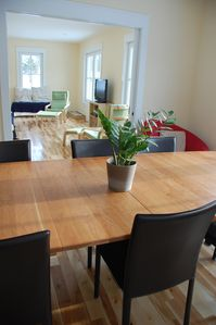 Barnard house rental - Dining room through to living room