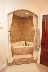 Master Bath with jetted jacuzzi tub