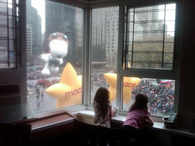 Perfect views of Thanksgiving Parade