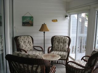 Bradenton condo photo - Climate controlled lanai overlooks water