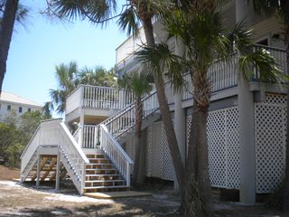 St George Island house photo - New deck and stairs to upper entrance