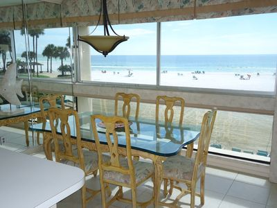 Beach view from dining room.