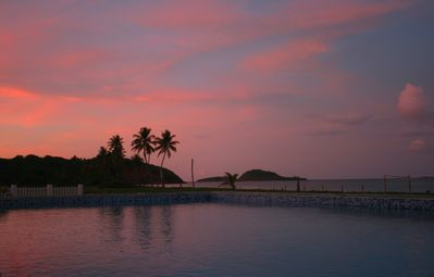 Spectacular sunset from the MoonFish Pool