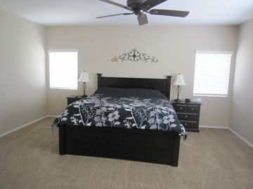 Master Bedroom has a king size bed, chaise lounge and TV...Perfect!!