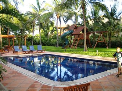 Punta Mita Residents beach club 2nd pool and play ground area