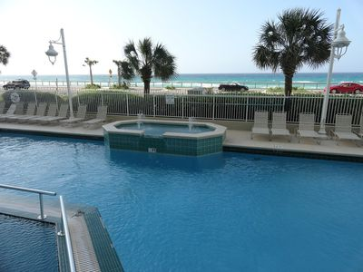 Majestic Suns Outdoor Pool Overlooking The Gulf