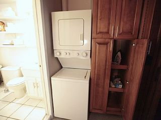 The washer/dryer will make your stay much nicer. - Harlem apartment vacation rental photo