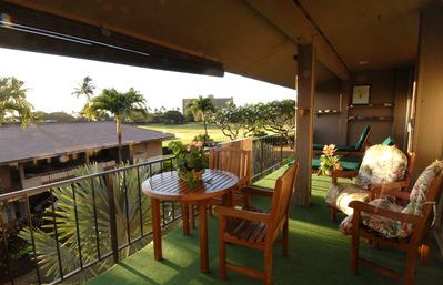 Private Lanai with electric bbq