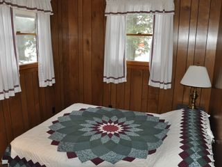 Brant Lake cabin photo - Master Bedroom Overlooking the Lake.