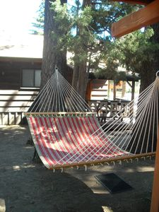 Hammock under the stars and whispering pine trees.