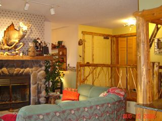 Lake Placid condo photo - Living Room-Fireplace, wood provided(winter), 32 in HDTV