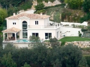 air view of the villa