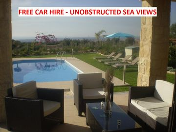 Free use of reliable car!! wow factor three bedroom villa all en suite with pool