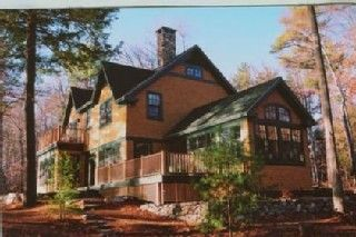 Wolfeboro house rental - Main house from shore