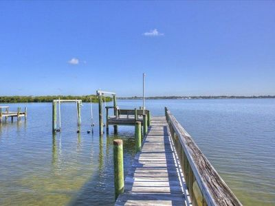 Manasota Key house rental - Fishing & boat dock on Lemon Bay