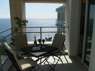 Funchal apartment rental - Large sunny balcony overlooking gardens and ocean