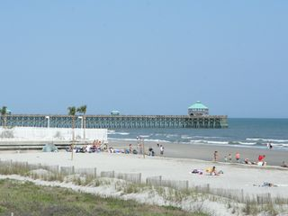 Folly Beach Pier 4 blocks away - Folly Beach house vacation rental photo