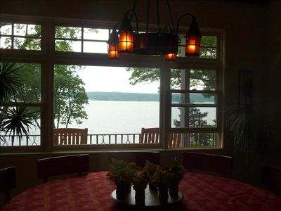 View of lake from dining room.