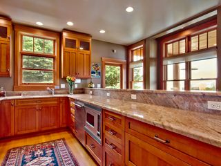 Clinton house photo - Custome Fir Cabinets, Viking Appliances, Slab Granite Counters