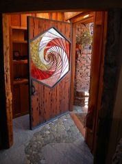 Ventura house photo - Handcrafted Hexagon Door!