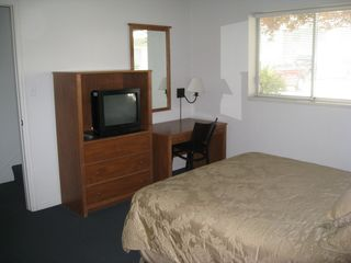 Provo townhome photo - View of the TV and desk in downstairs bedroom