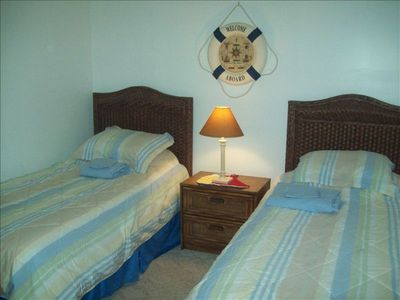 North Wildwood condo rental - Bedroom Three With Two Singles And TV/VCR