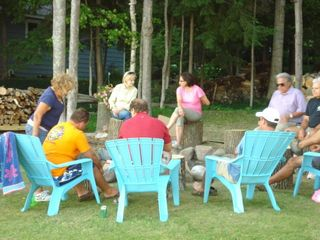 Great Memories For Your Family Around Our Fire Pit - Walloon Lake cottage vacation rental photo