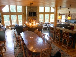 Warren chalet photo - Dining table that seats 12. Plus 6 barstools at kitchen counter.